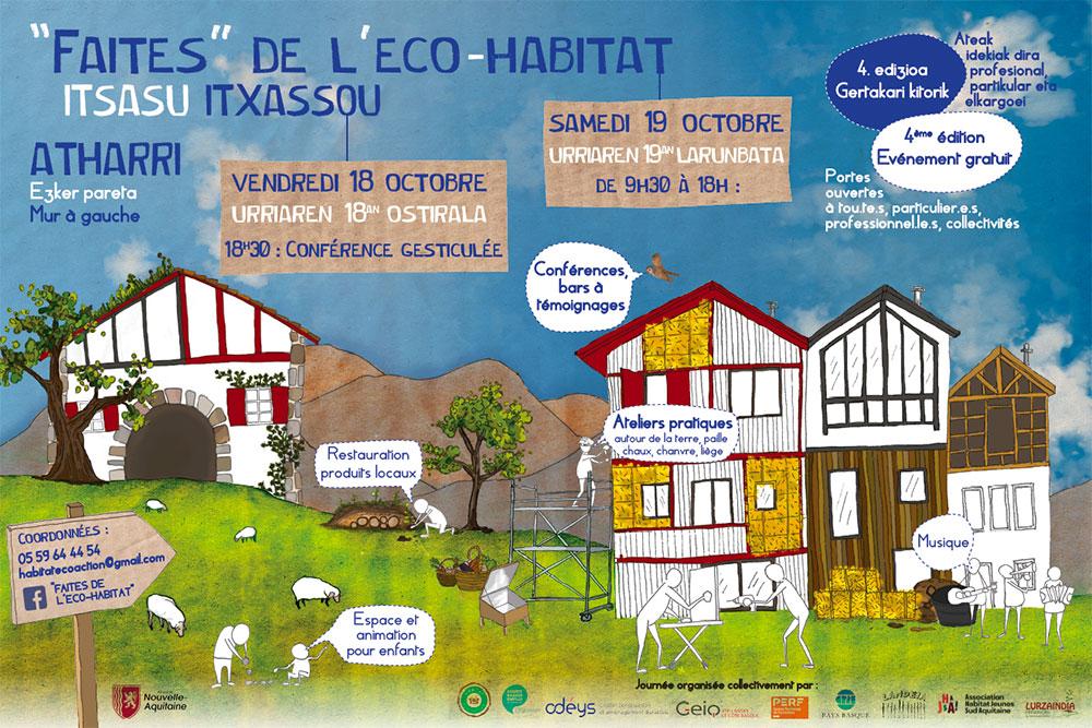 affiche Faites de l'éco-habitat 2019