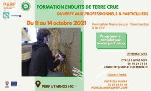Read more about the article Prochaine Formation Enduits de terre crue – octobre 2021