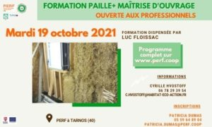 Read more about the article Prochaine Formation Paille+ Maîtrise d'ouvrage