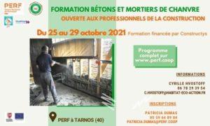 Read more about the article Formation Bétons et mortiers de chanvre