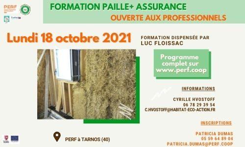 actu ptce formation paille + assurance 10.2021